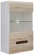 Шкаф навесной Black Red White Azteca S205-SFW1W/10/6 (белый/дуб санремо) -