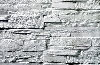Декоративный камень Baastone Сланец Классический белый 101 (375x90x8-14) -