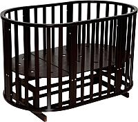 Детская кровать-трансформер Антел Северянка-3 (шоколад) -
