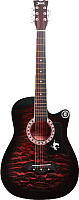 Акустическая гитара Jervis JG-381C/RDS (красный) -