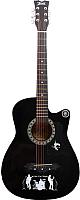 Акустическая гитара Jervis JG-382C/BK (черный) -