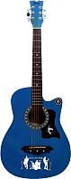 Акустическая гитара Jervis JG-382C/BLS (синий) -