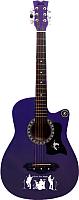 Акустическая гитара Jervis JG-382C/VTS (фиолетовый) -