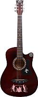 Акустическая гитара Jervis JG-382C/WA (бордовый) -