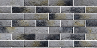 Декоративный камень Baastone Кирпич Марсель серо-черно-желтый 104 (245x65x5-20) -
