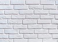Декоративный камень Baastone Кирпич Шамотный белый 101 (210x65x7-9) -