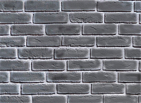 Декоративный камень Baastone Кирпич Шамотный серый 105 (210x65x7-9) -