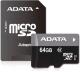 Карта памяти A-data Premier microSDXC UHS-I U1 Class 10 64GB (AUSDX64GUICL10-RA1) -