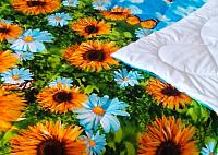 Одеяло Angellini 7с017дл (172x205, подсолнухи) -