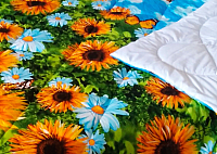 Одеяло Angellini 7с020дл (200x205, подсолнухи) -