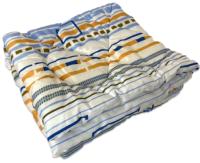 Одеяло Angellini 2с315о (150x205, белый/голубые полоски) -