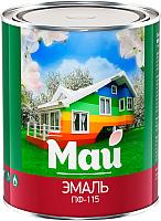 Эмаль Ярославские краски Май ПФ-115 (800г, черный) -