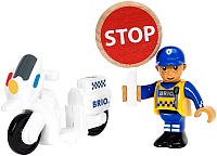 Элемент железной дороги Brio Полицейский мотоцикл 33861 -