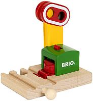 Элемент железной дороги Brio Сигнальный знак на магните 33868 -