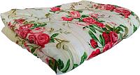 Одеяло Angellini 5с322п (200x220 желтый/розы) -