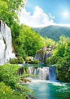 Фотообои листовые Твоя планета Люкс Каскад водопадов (194x272) -