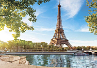 Фотообои листовые Твоя планета Набережная в Париже (272x194) -