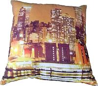 Подушка для сна Angellini 2с47с 70x70 (город коричневый) -