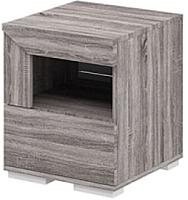 Прикроватная тумба Мебель-Неман Кристалл МН-131-02 (дуб сонома/трюфель) -