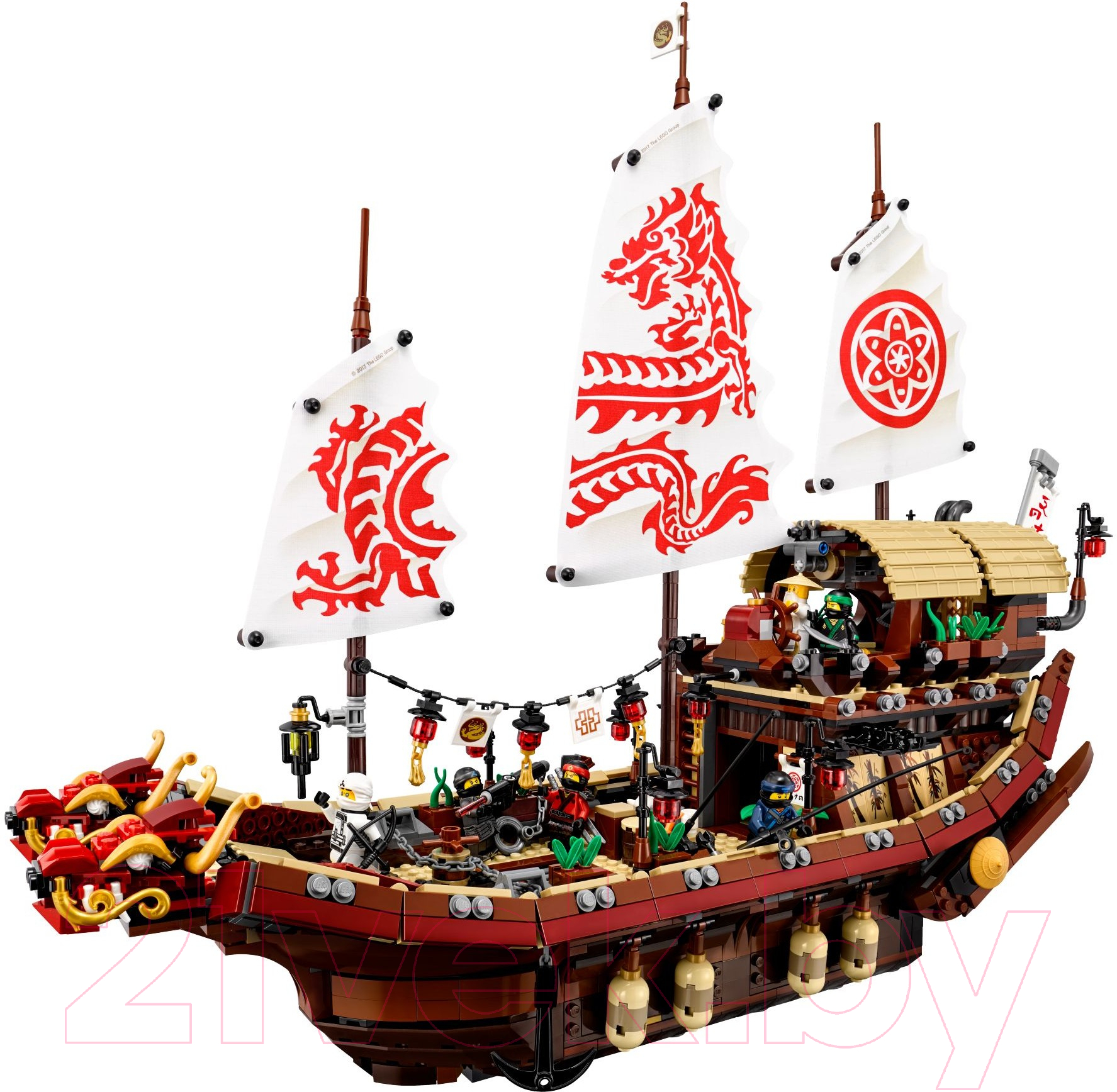 Купить Конструктор Lego, Ninjago Летающий корабль Мастера Ву 70618, Китай, пластик