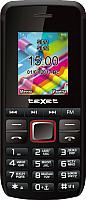 Мобильный телефон Texet TM-203 (черный/красный) -