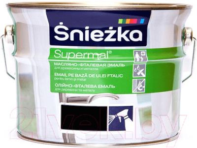 Эмаль Sniezka Supermal масляно-фталевая (2.5л, черный)