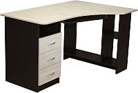 Компьютерный стол Мебель-Класс Престиж (венге/дуб шамони, левый) -