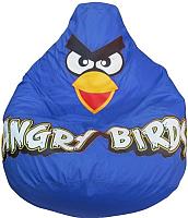 Бескаркасное кресло Flagman Груша Макси Angry Birds Г2.1-046 (синий) -