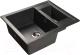 Мойка кухонная GranFest Quadro GF-Q610K (черный) -