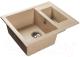 Мойка кухонная GranFest Quadro GF-Q610K (песок) -
