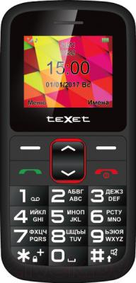 Мобильный телефон Texet TM-B217 (черный/красный)
