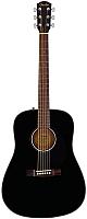 Акустическая гитара Fender CD-60S Black -
