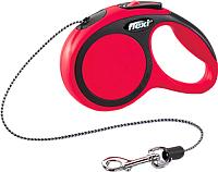 Поводок-рулетка Flexi New Comfort трос XS (3м, красный) -