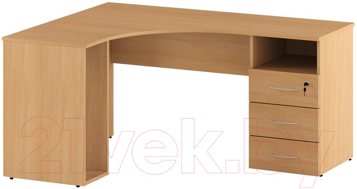 Купить Письменный стол Славянская столица, С-085/1 (левый, бук), Беларусь