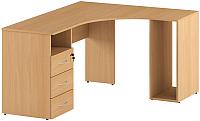 Письменный стол Славянская столица С-086/1 (правый, бук) -