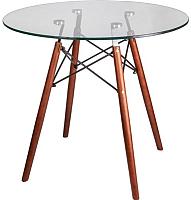 Обеденный стол Седия Leila 80x75 (орех/стекло) -
