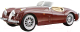 Масштабная модель автомобиля Bburago Ягуар XK 120 родстер / 18-22018 (бордовый) -