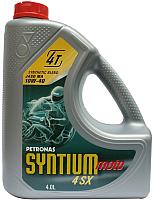 Моторное масло Petronas Syntium Moto 4SX 10W40 / 18204004 (4л) -