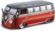 Масштабная модель автомобиля Bburago Фольксваген Самба / 18-42004 (красный/черный) -