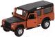 Масштабная модель автомобиля Bburago Street Fire Лэнд Ровер Дефендер / 18-43029 (оранжевый металлик) -
