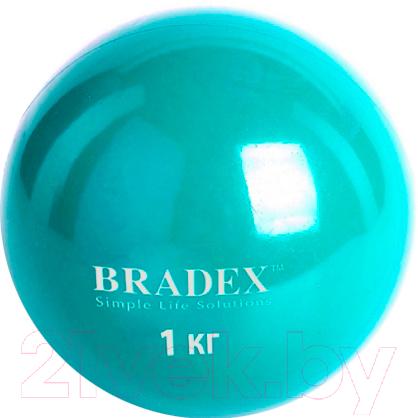 Купить Медицинбол Bradex, SF 0256 (1кг), Китай, голубой