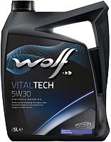 Моторное масло WOLF VitalTech 5W30 / 14115/5 (5л) -