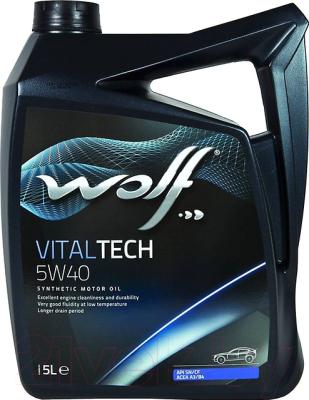 Моторное масло WOLF VitalTech 5W40 / 16116/5 (5л)