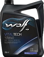 Моторное масло WOLF VitalTech 10W40 / 14626/5 (5л) -
