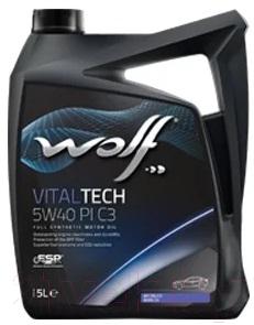 Моторное масло WOLF VitalTech 5W40 PI C3 / 21116/5 (5л)