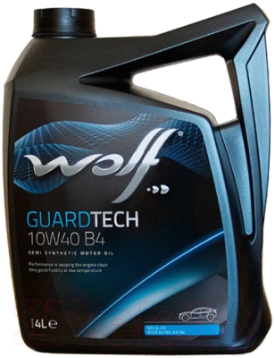 Моторное масло WOLF Guardtech B4 10W40 / 23127/4 (4л)