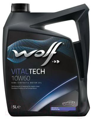 Моторное масло WOLF VitalTech 10W60 / 24118/5 (5л)