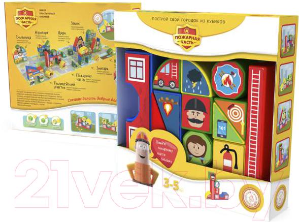 Купить Развивающая игрушка Magneticus, Пластиковые кубики. Пожарная часть / BLO-003-05, Россия, пластик