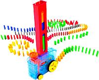 Игровой набор PlayGo  Домино с машинкой для их установки 9400 -