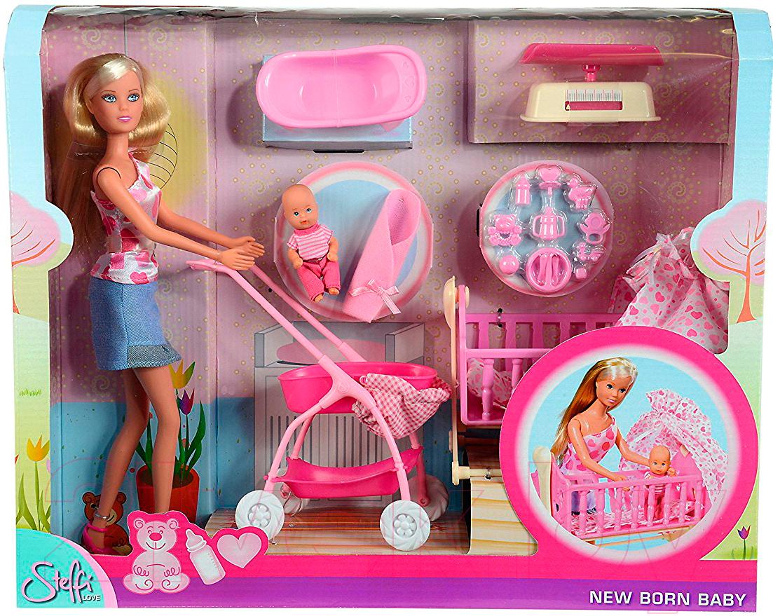 Купить Кукла Simba, Штеффи с младенцем и аксессуарами 105730861, Китай, пластик